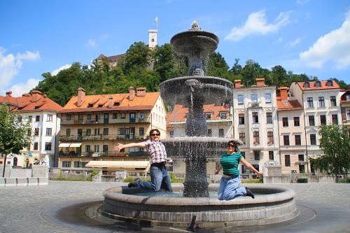 Saltando en Ljubljana