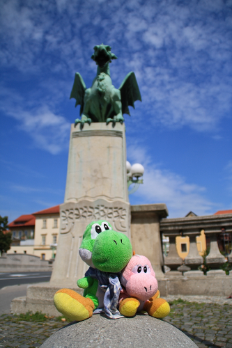 En Ljubljana con el dragon