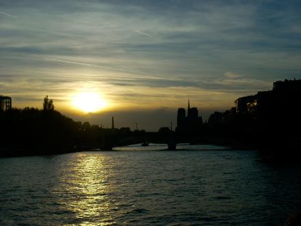 Puesta de Sol en el Sena