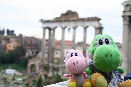 Los Yoshis en el Foro de Roma