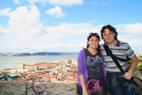 En el castillo de Lisboa