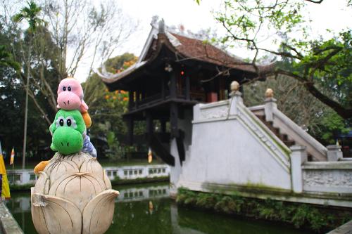 En Pagoda del Pilar Único de Hanoi