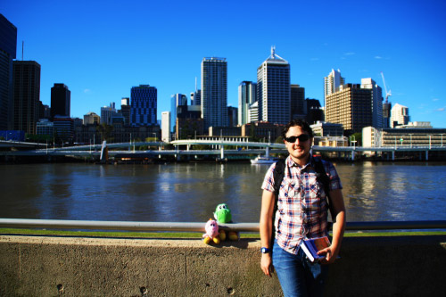 Junto al South Bank de Brisbane