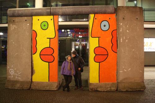 Muro de Berlin en Potsdamer platz